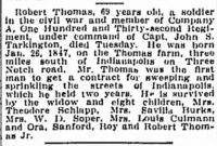 Robert Thomas (1847-1916), Death notice