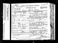 Alfred G. Thomas (1824-1903) Death certificate