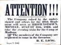 Benjamin F. Davenport, 67th Inf Regt, Indiana, Notice to Report, Monday, 11 Aug 1862