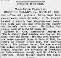 Andrew Reel Cox (1827-1898), Obituary