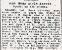 Rosa Alice Farris (1861-1941), Obituary