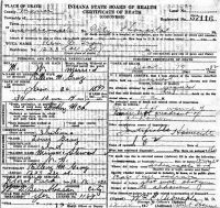 Rex Courtney Gray (1898-1932) Death certificate