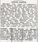 Axton Payne (1868-1946), Obituary