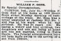 William F. Gose (1859-1915), Obituary