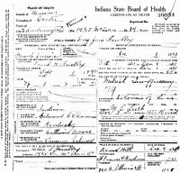 Ivy Jane Thomas (1845-1921) Death certificate