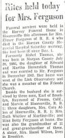 Mabel Edith Thomas (1886-1959) Obituary