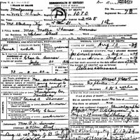 Mary B. Thomas (1856-1929) Death certificate
