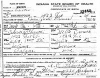 Owen Zack Thomas (1908-1983) Birth certificate
