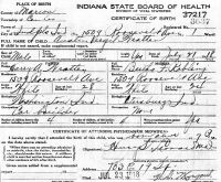 Austin Virgil Wratten (1918-1990) Birth certificate