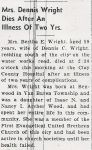 Bertha E. Wood (1887-1947), Obituary 1 of 2