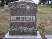 J W Deal Family Marker at Rose Hill Cemetery, Harrison County, IA