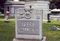 Mary Peck and William Wollberg grave stone