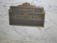 Sol Horwitz crypt at Beth Olam cemetery