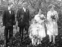 Carl Frederick Wehrwein (1893-1967) and Jennie Leona Wensink (1895-1992) wedding, 16 October 1926
