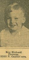 Roy Richard Thomas  Won Healthy Looking Child Contest