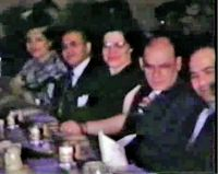 Fannie and Philip Katler sitting with Dora and Dave Greenberg at 1948 Horwitz Pary