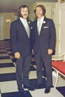 Ed Brussell on his wedding day with his cousin Peter Mayland