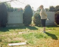 Betty Klinetsky visiting graves of her husband Irving Mayland and her mother Mary Botwinnik