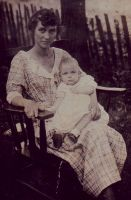 Margaret Senter Peck with Mary Lois Peck in her lap.