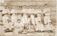 Roy Peck and his baseball team