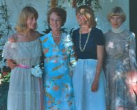 Laurel Mayland on wedding day with her mother, Dorothy Woodland and her two sisters, Susan Howard and Dianne Hyde