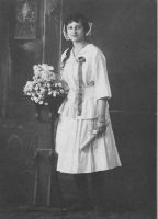 Beatrice (daughter of Morris)- older graduation photo- facing left.