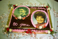 Mom's 80th Birthday Cake