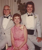 Roy Richard Thomas, Carol Jean Wehrwein, Robert Carroll Thomas, wedding