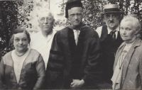 Carl Frederick Wehrwein (1893-1967) and parents, June 1930