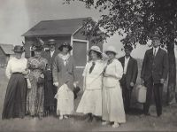 George Simon Wehrwein (1883-1945} & Anna Ruby (1886-1876) Wedding party, 17 Aug 1914