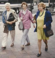 Cousins stepping smartly on Pennsylvania Avenue, Washington, DC, 1996