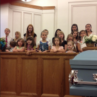 Mary Lois Peck - Funeral Grandchildren Singing